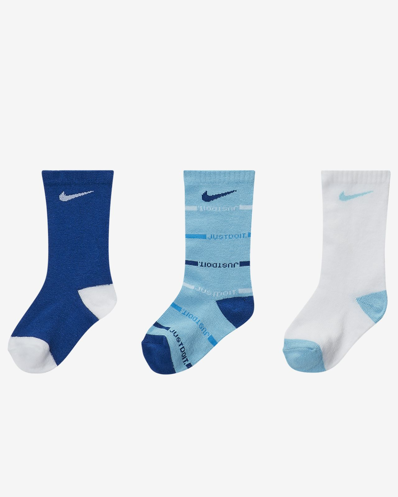 Nike Gripper Toddler Crew Socks (3 Pairs)