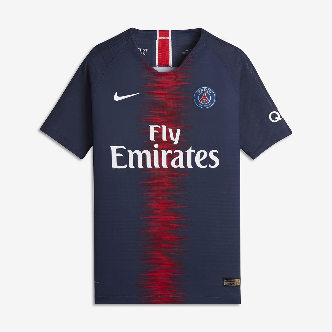 Maillot de football 2018/19 Paris Saint-Germain Vapor Match Home pour Enfant plus âgé