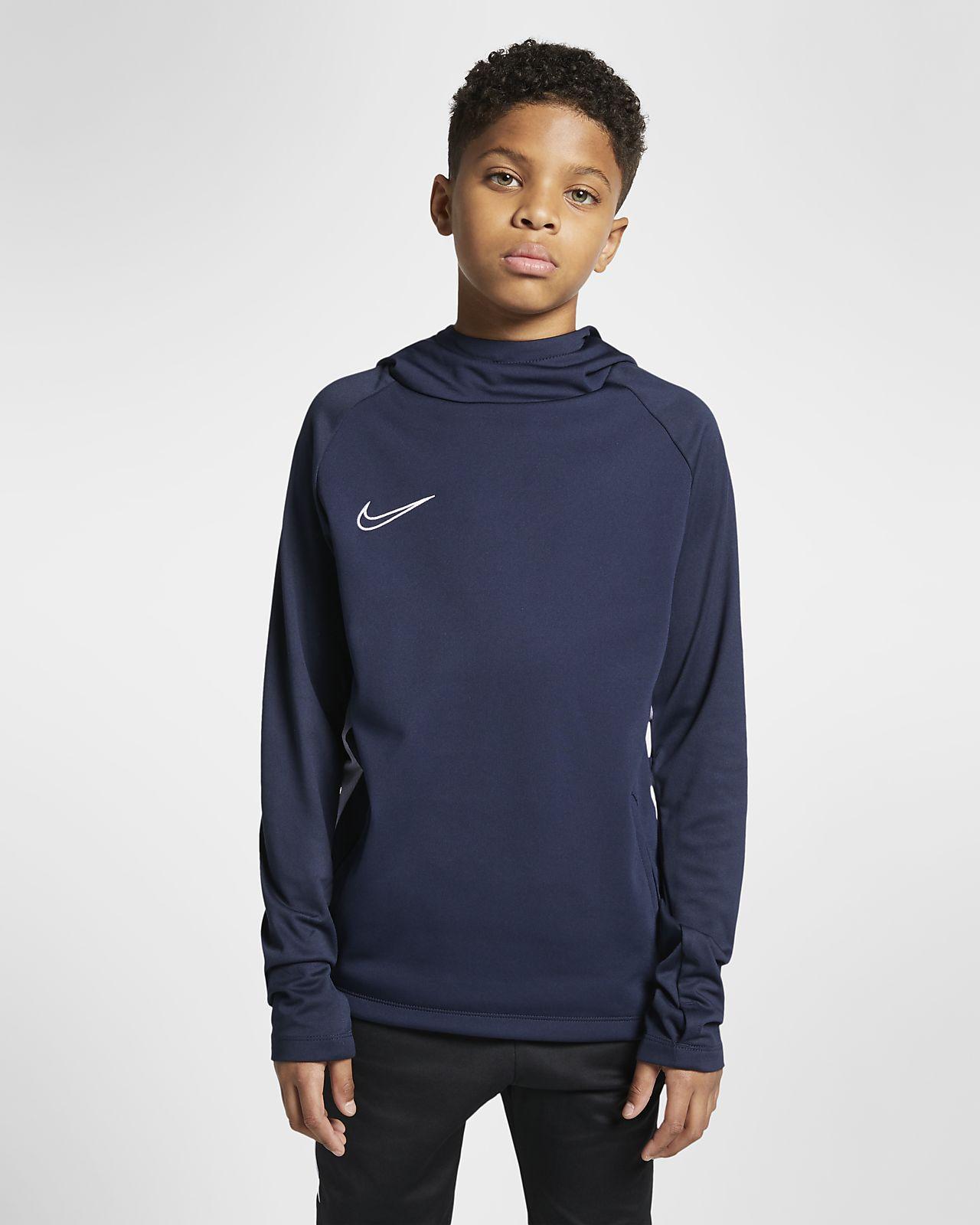 Sudadera con capucha de fútbol sin cierre para niños talla grande Nike Dri-FIT Academy