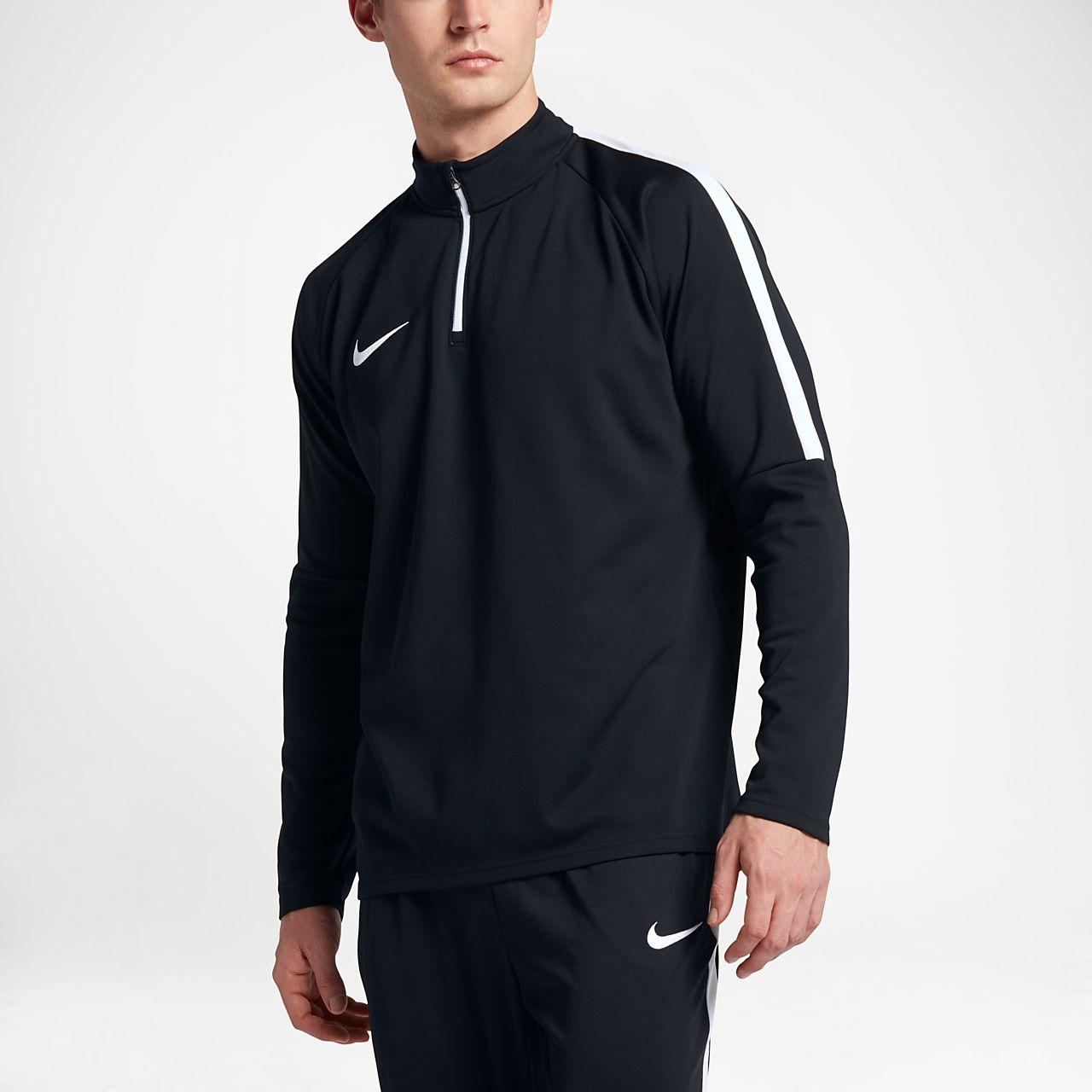 Top de ejercicios de fútbol con cierre 1/4 para hombre Nike Dri-FIT Academy
