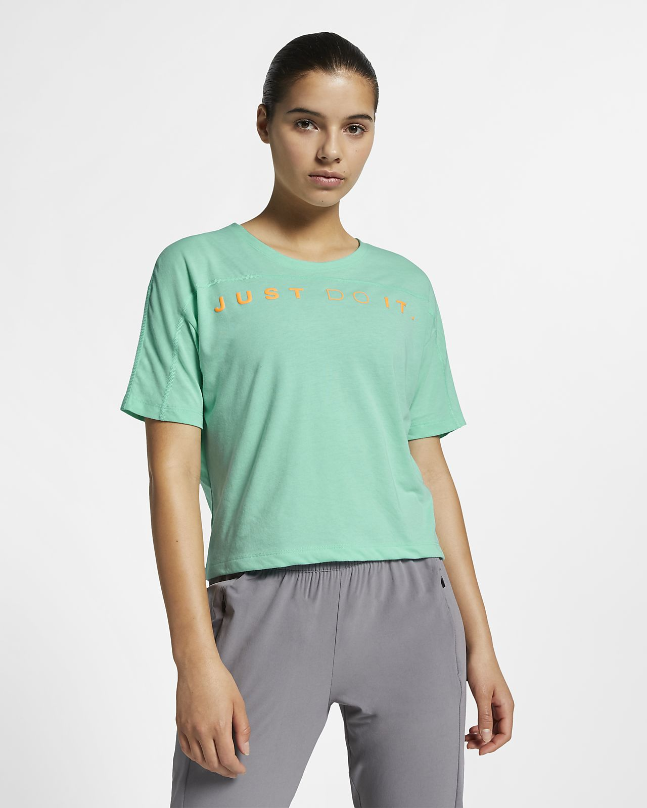9e4f0141c185 Γυναικεία κοντομάνικη μπλούζα για τρέξιμο Nike Dri-FIT Miler. Nike ...
