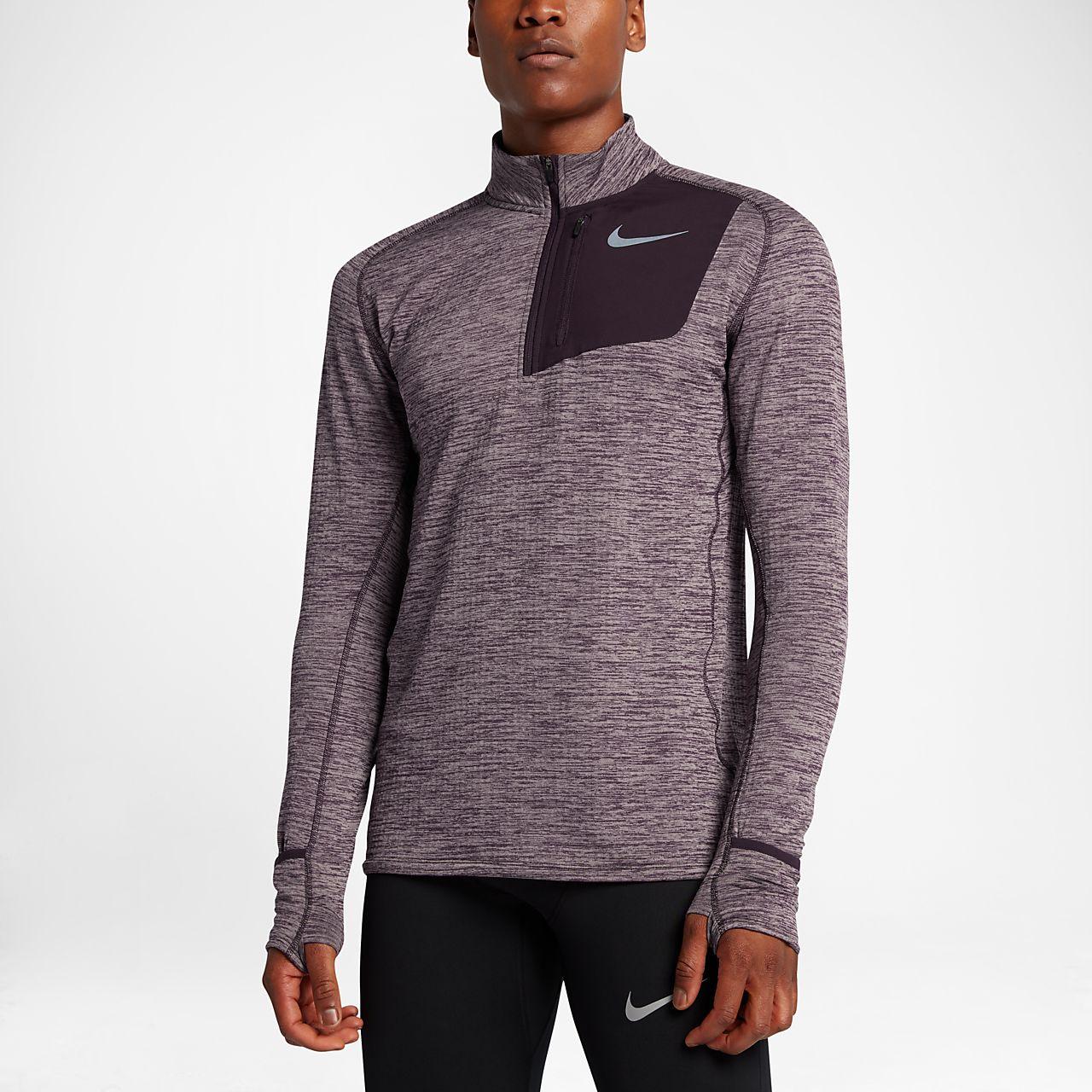 Nike Mens Running Top - Nike Element Sphere Half-Zip Black/Heather T99h6818