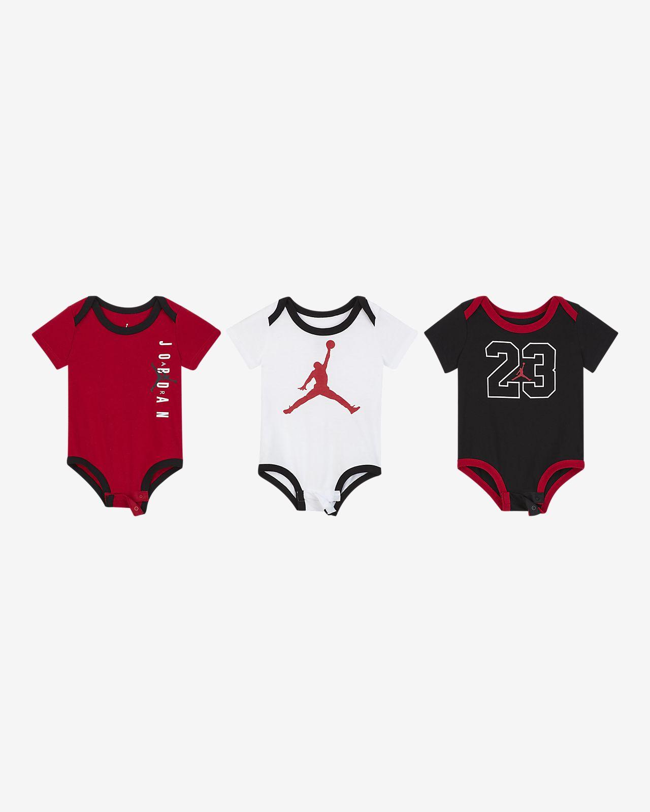 Jordan Jumpman Conjunt de bodis (paquet de 3) - Nadó (0-9 M)