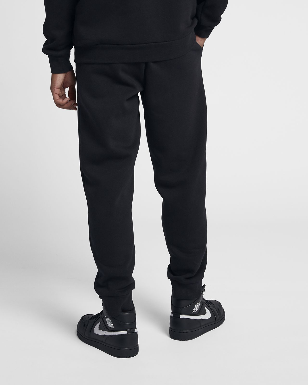 JORDAN JUMPMAN FLEECE PANT BLACK WHITE 940172 010 MENS US SIZES