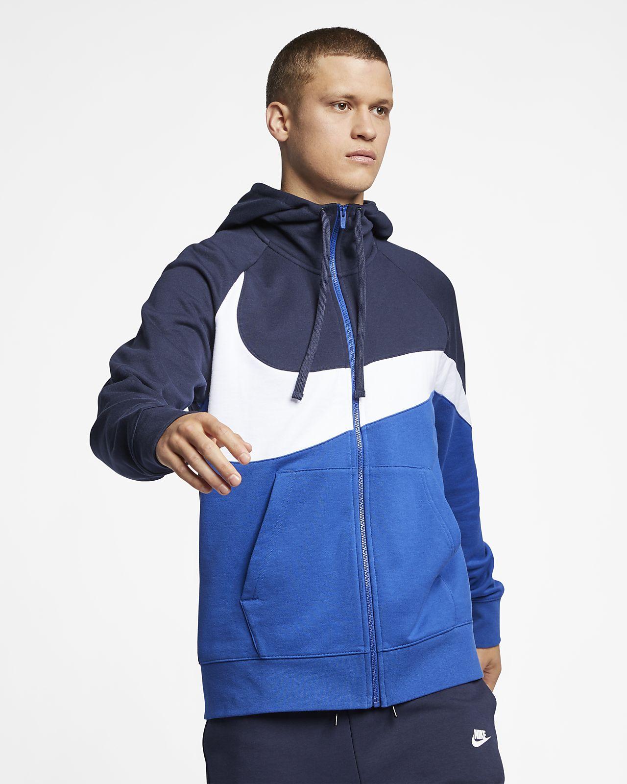 Felpa con cappuccio e zip a tutta lunghezza in French terry Nike Sportswear - Uomo