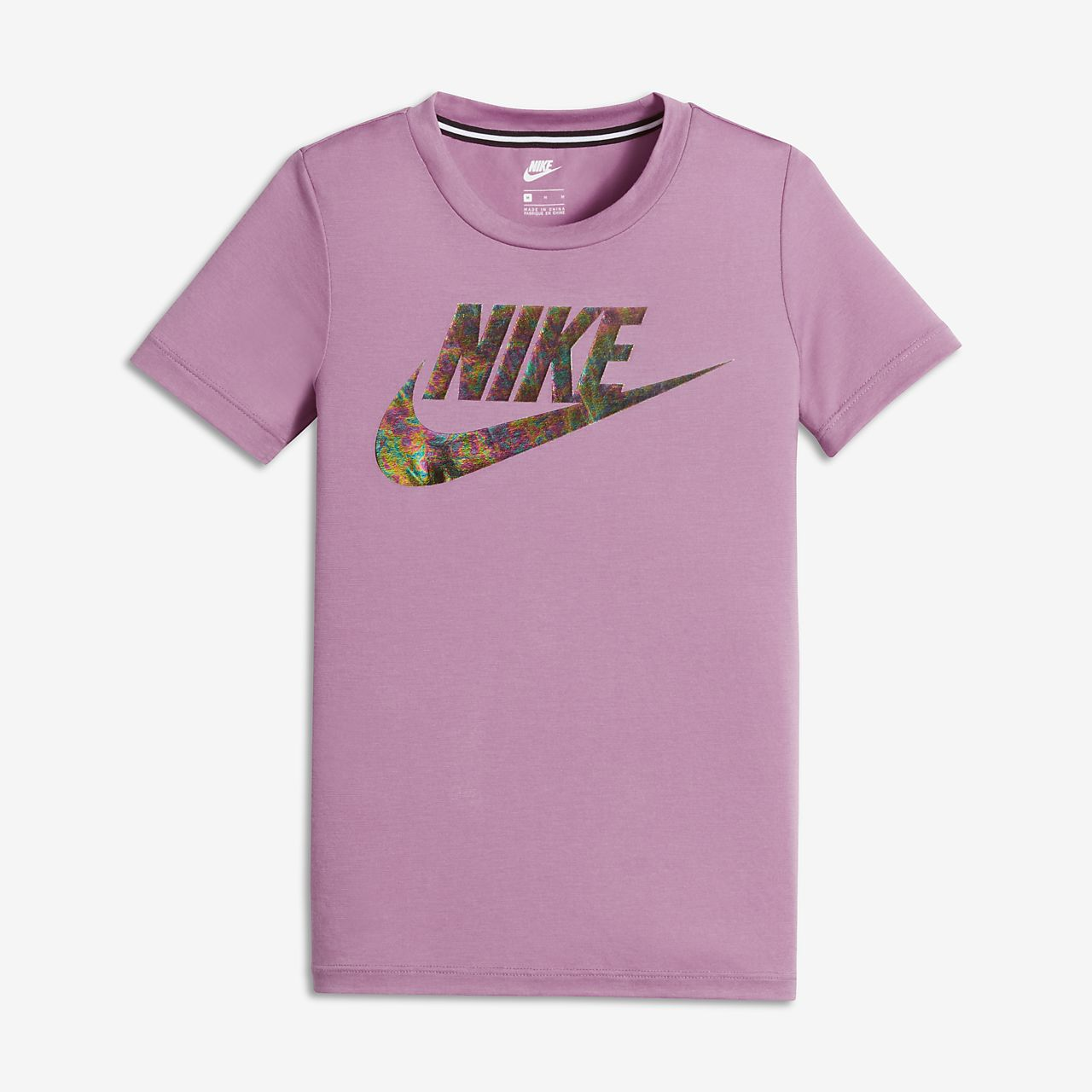 Nike Sportswear Essential Big Kids' Short Sleeve Tops Orchid