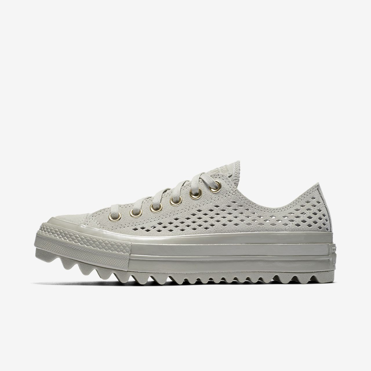Converse Chuck Taylor All Star Lift Ripple Perforated Suede Low Top Women's Shoe