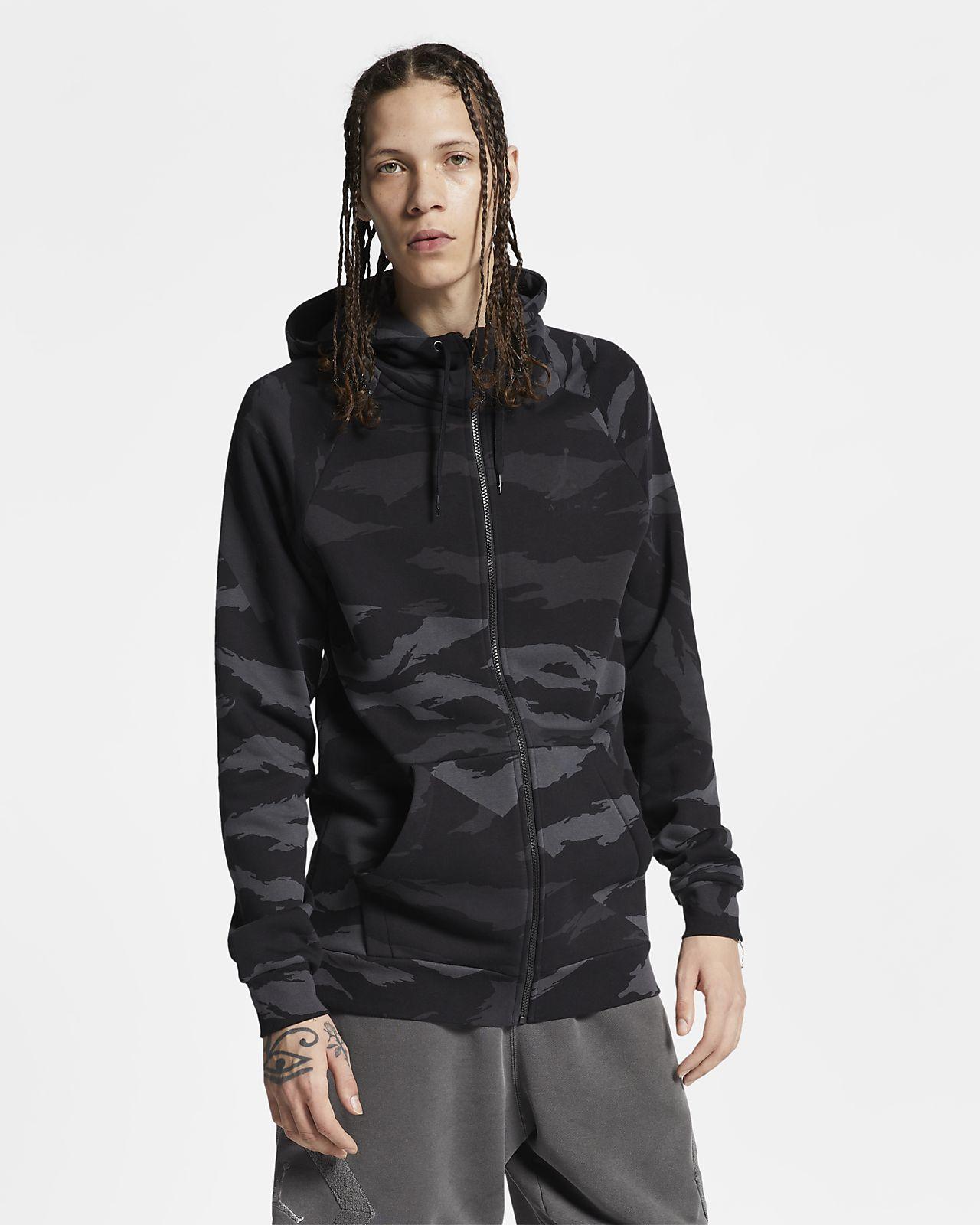 Sweat à capuche camouflage à zip Jordan Jumpman