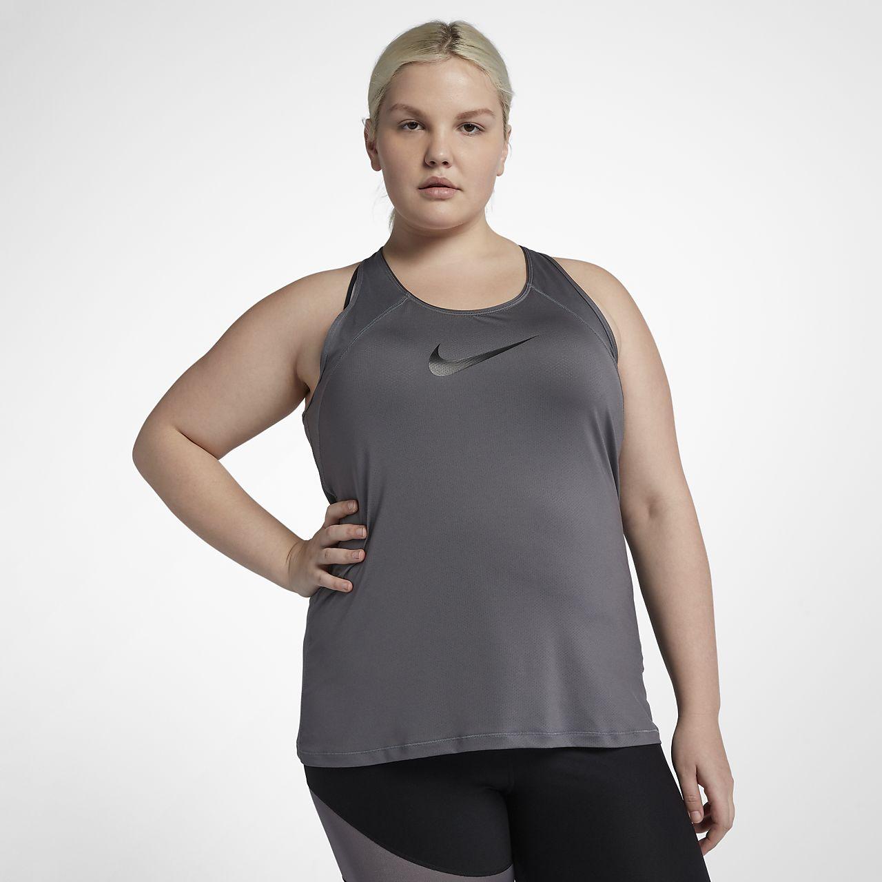 Γυναικείο φανελάκι προπόνησης Nike Pro (μεγάλα μεγέθη)