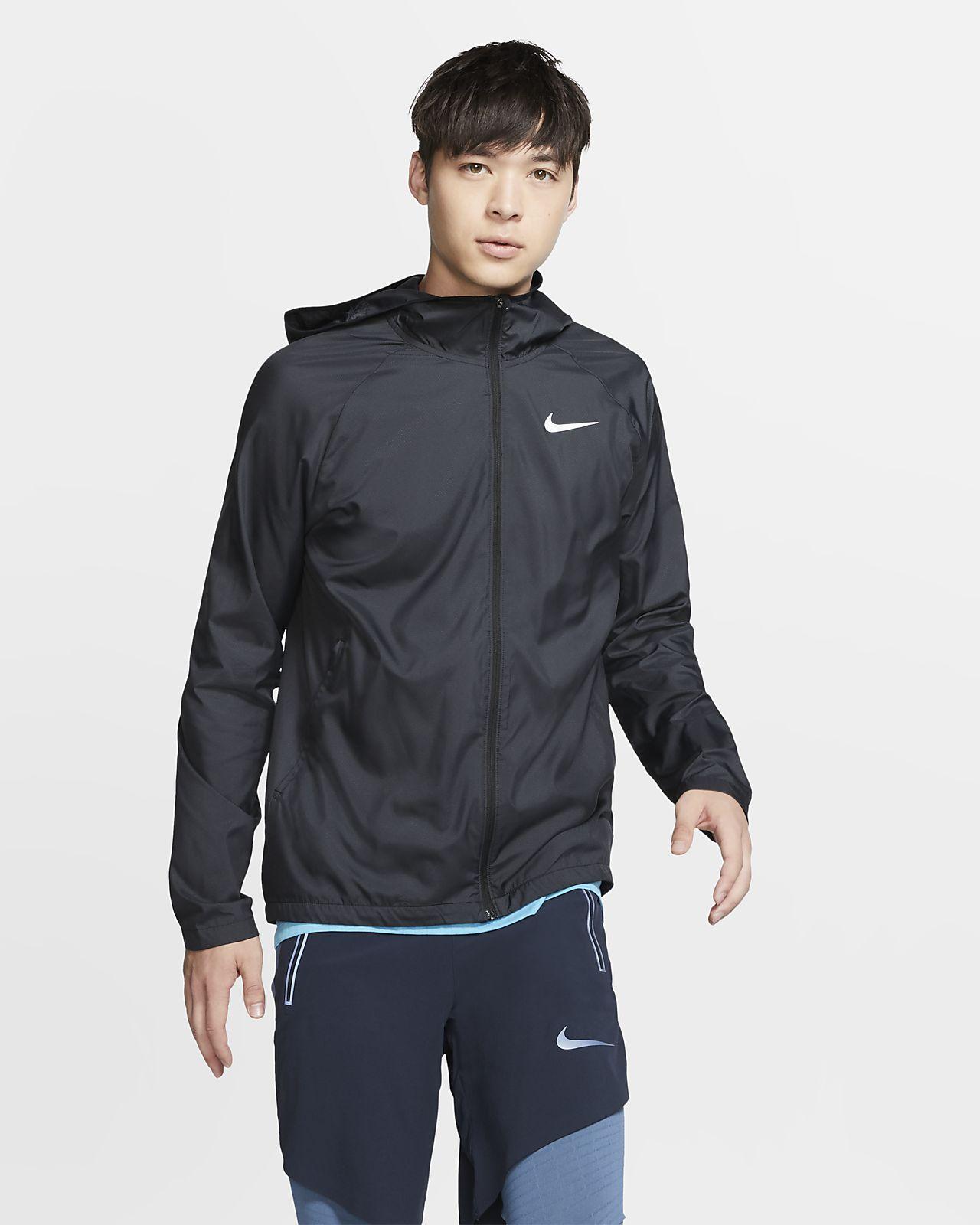 เสื้อแจ็คเก็ตวิ่งมีฮู้ดผู้ชาย Nike Essential