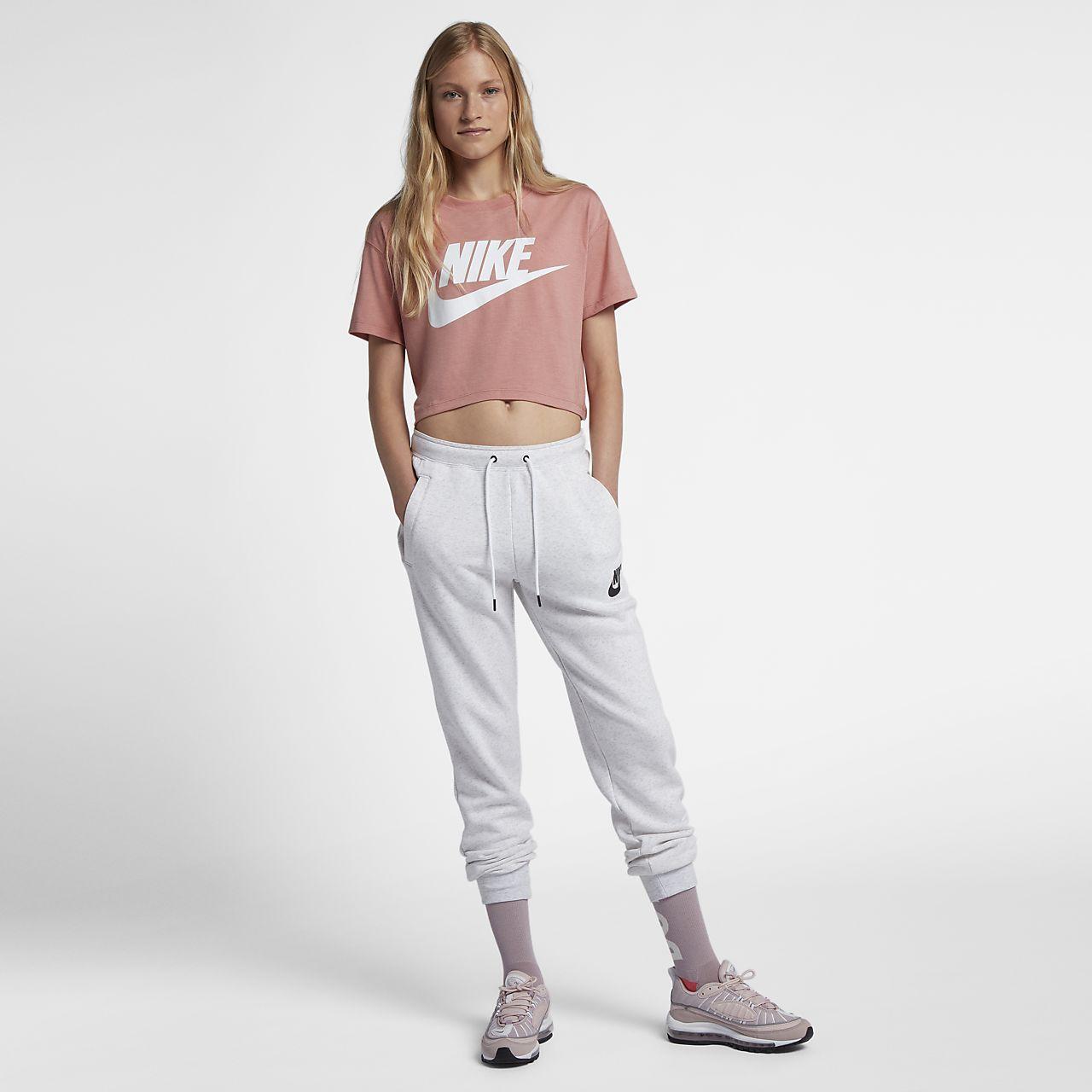 Nike Essential Cropped Damen Kurzarmoberteil