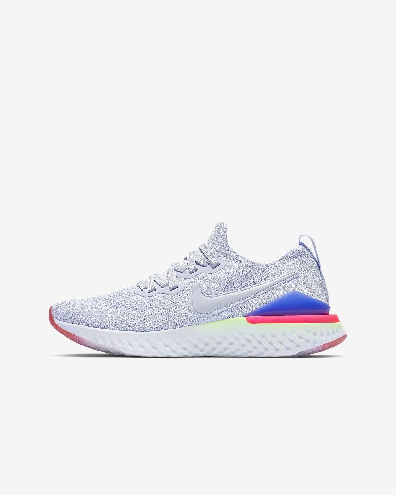 c744bdb9d63 Nike Epic React Flyknit 2 Big Kids  Running Shoe. Nike.com