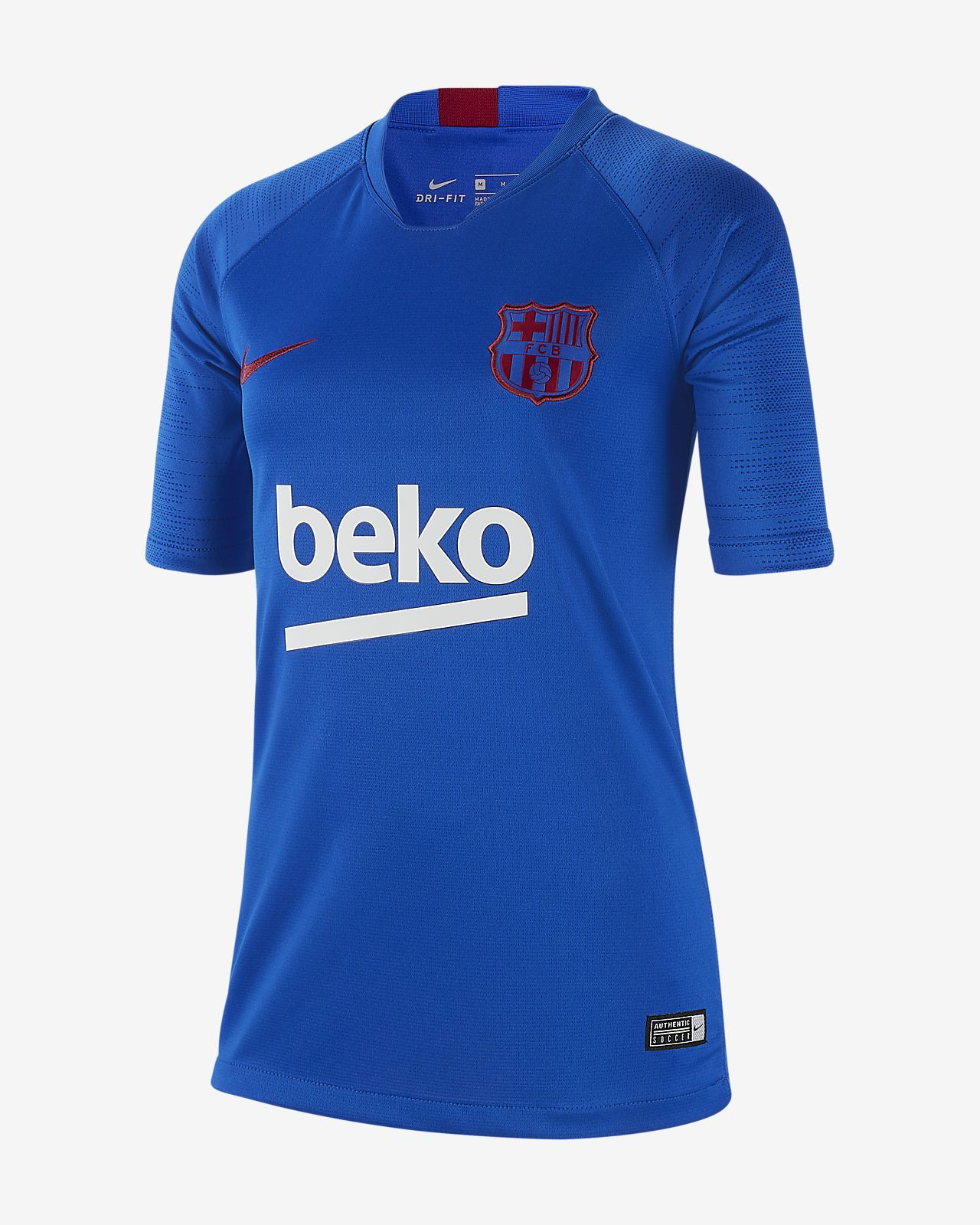 66b56522fb1 Nike Breathe FC Barcelona Strike Older Kids  Short-Sleeve Football ...