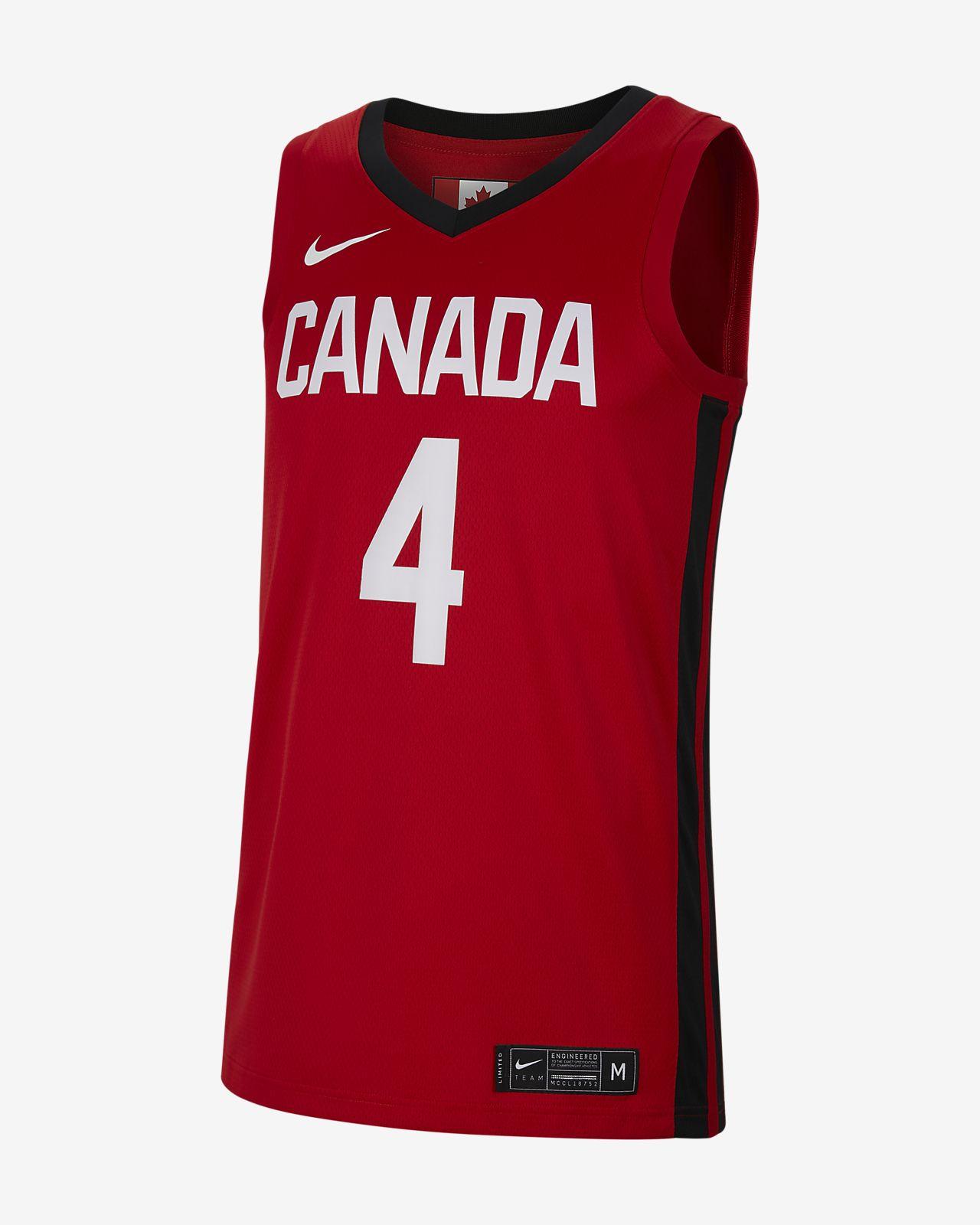 Canada Nike-basketballtrøje til mænd (vej)