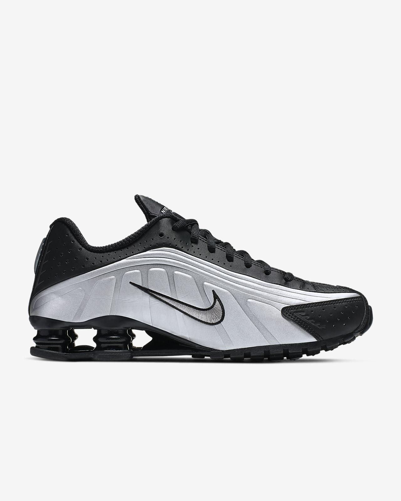 Nike Shox R4 Black Black Black White   Footshop