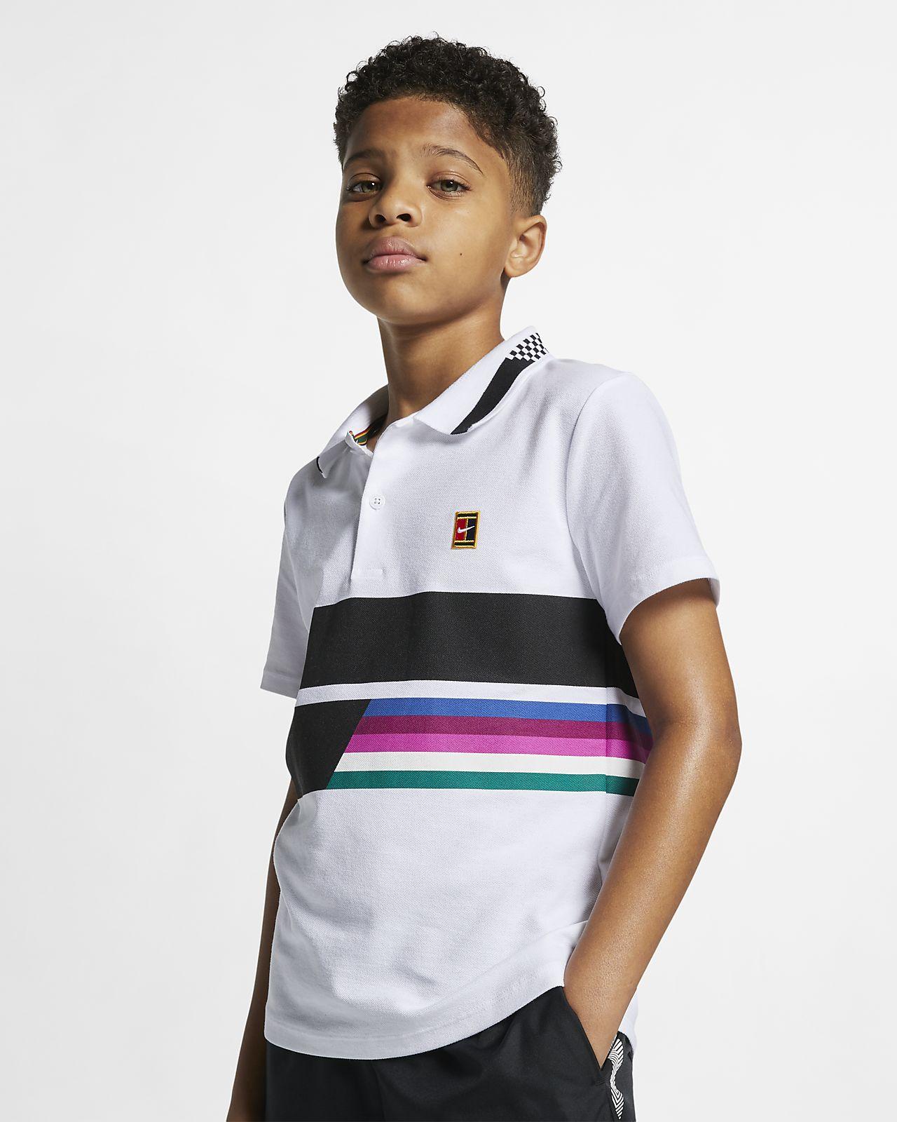 Polo de tenis para niño talla grande NikeCourt Advantage