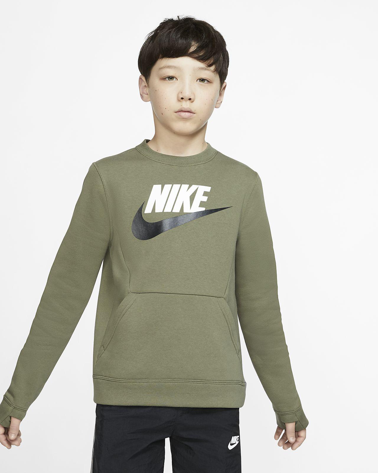 Nike Sportswear Club Fleece kerek nyakkivágású pulóver nagyobb gyerekeknek