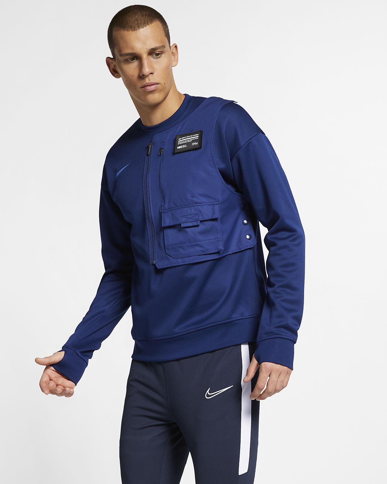 Nike F.C. kerek nyakkivágású férfipulóver futballhoz
