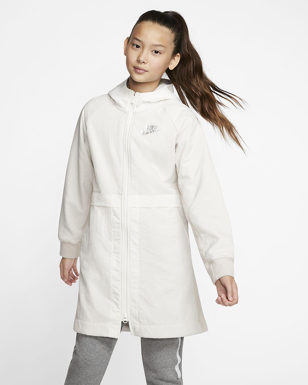 Nike Sportswear fleeceparkas til store barn (jente)