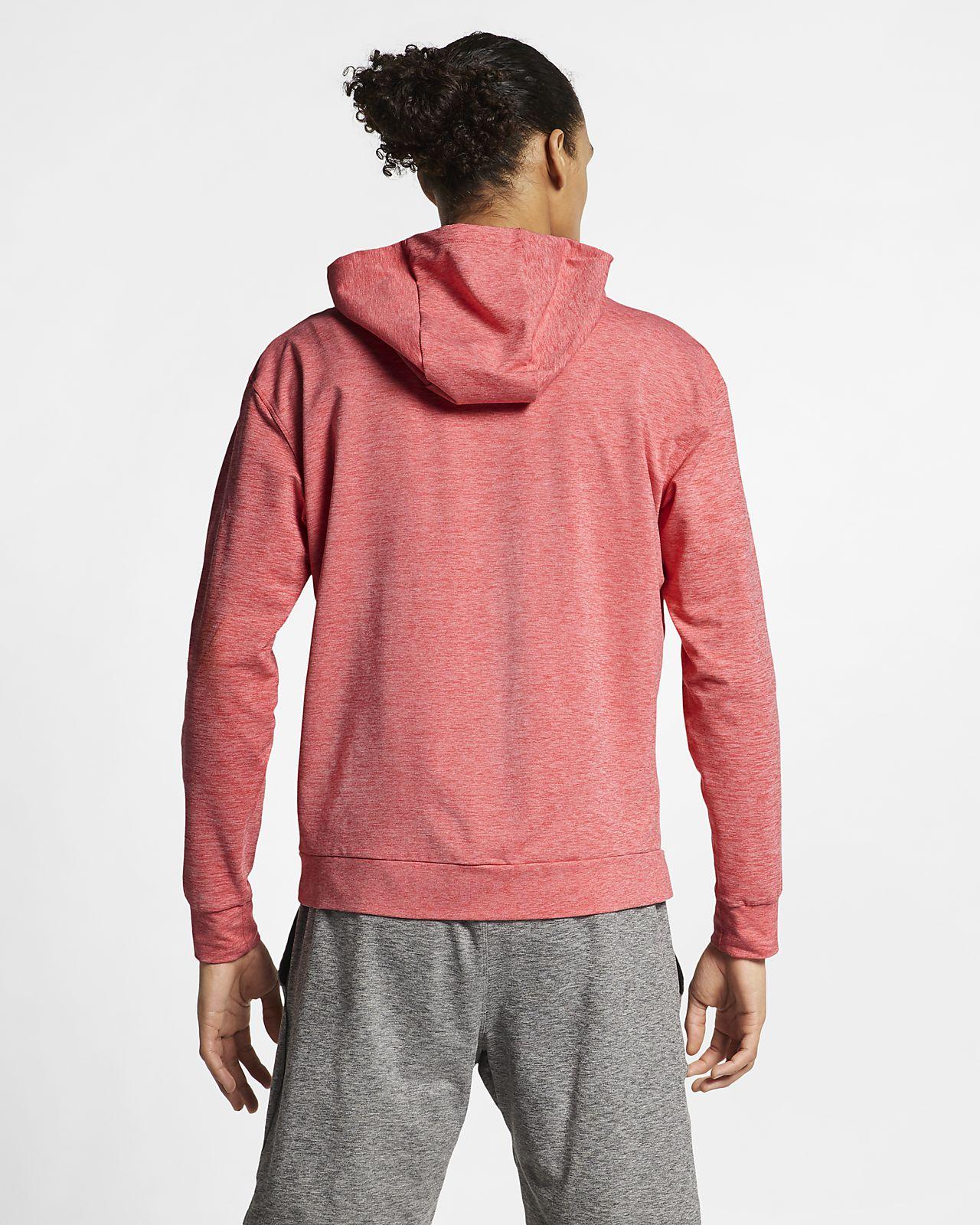 fb679ca14a ... Pánská tréninková mikina na jógu Nike Dri-FIT s kapucí a zipem po celé  délce
