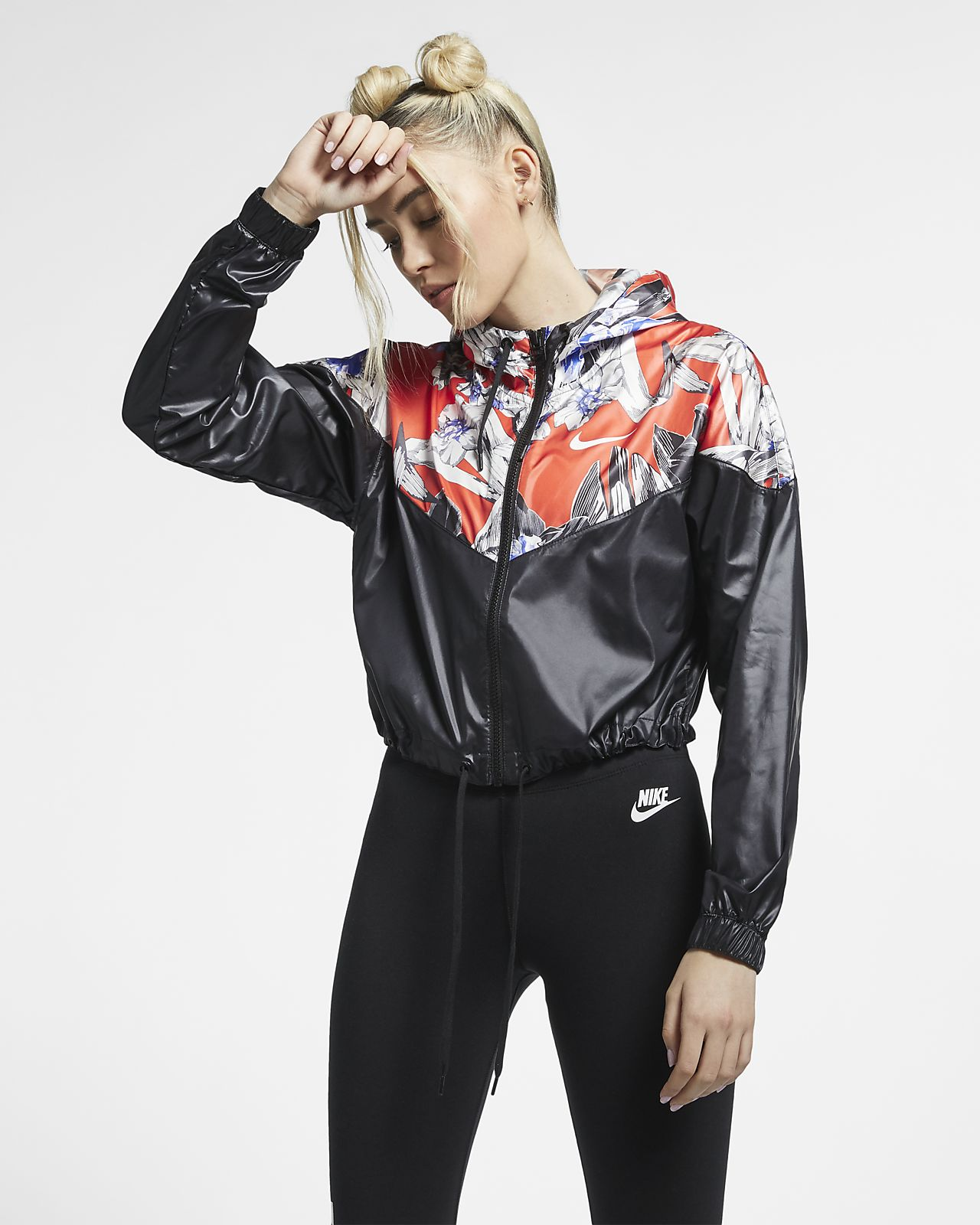 Nike Sportswear Windrunner kürzere Jacke mit Floralprint für Damen