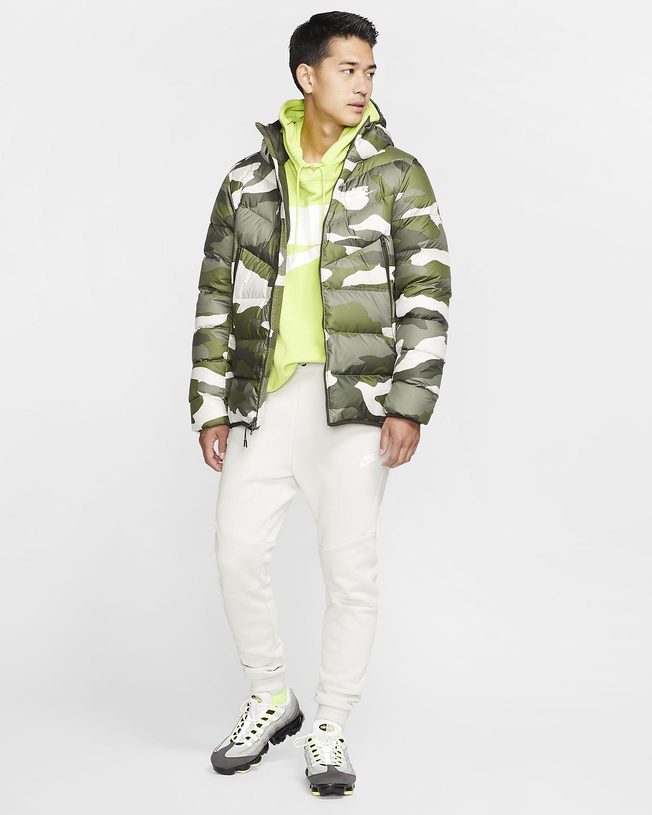 Veste à capuche imprimée Nike Sportswear Down Fill Windrunner pour Homme