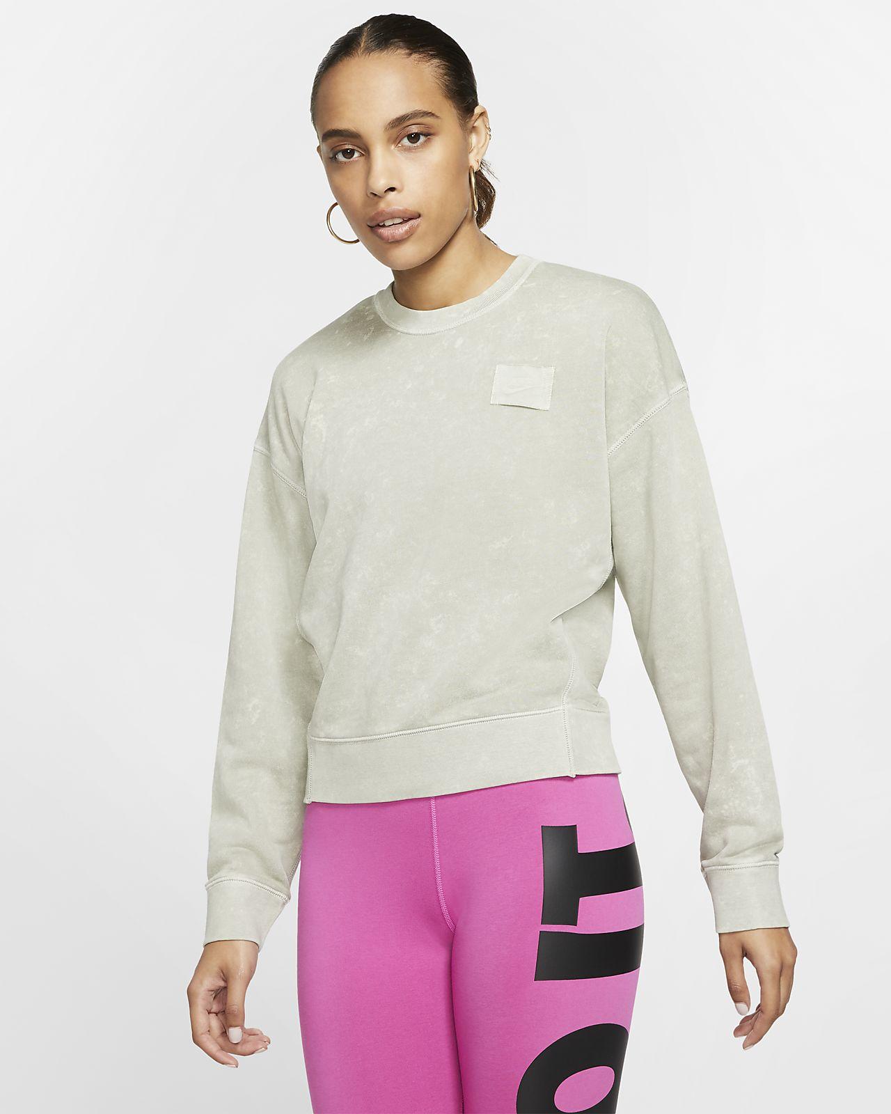 Nike Sportswear Damen Rundhalsshirt aus French Terry
