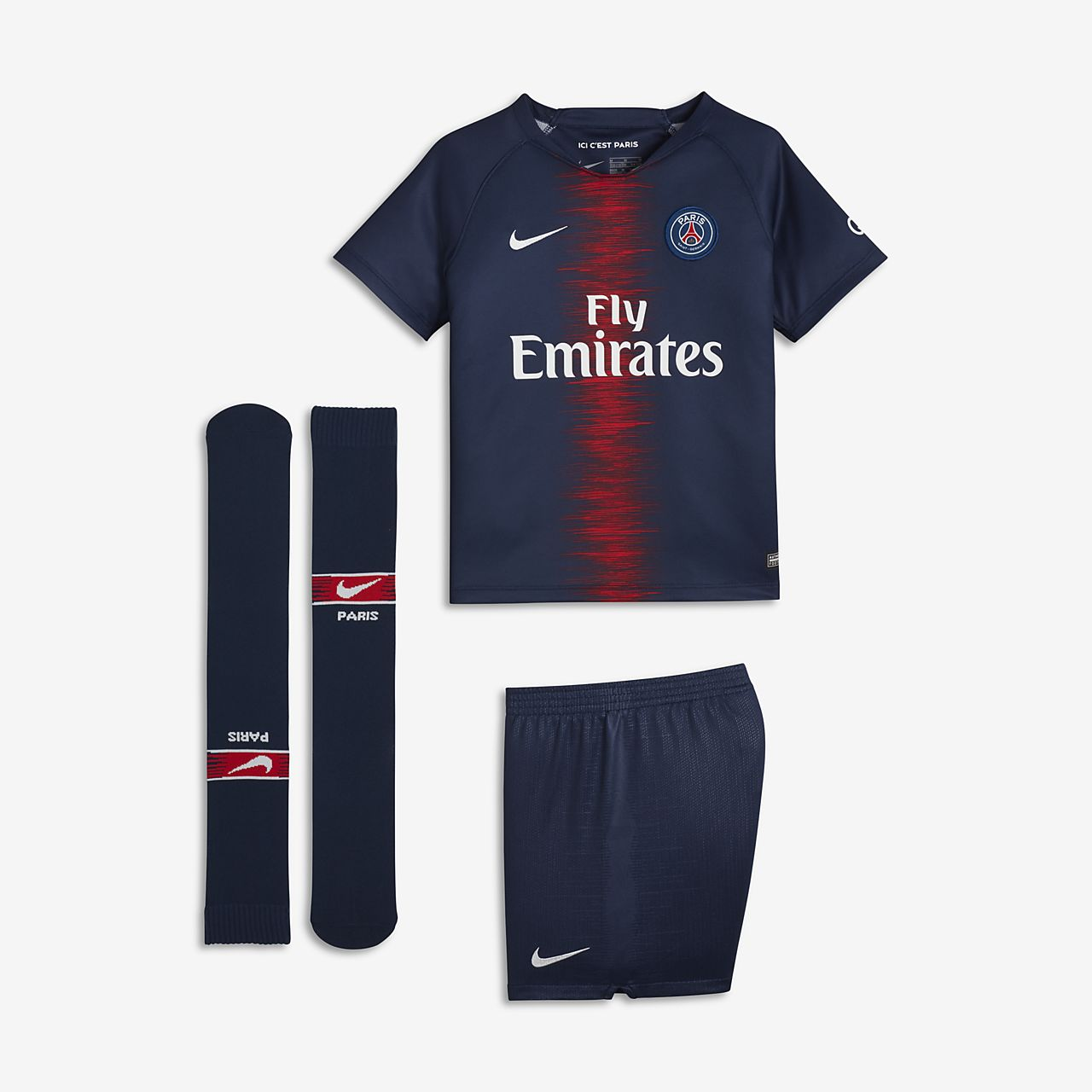 2018/19 Paris Saint-Germain Stadium Home Younger Kids' Football Kit