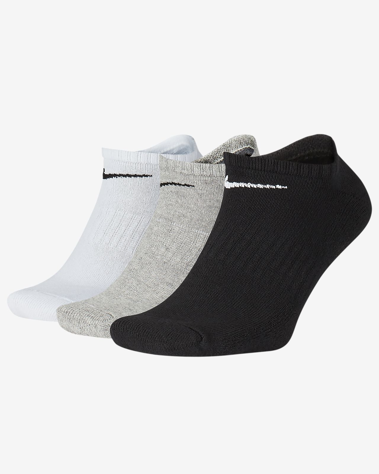 Nike Everyday Cushioned Training No-Show Socks (3 Pairs)