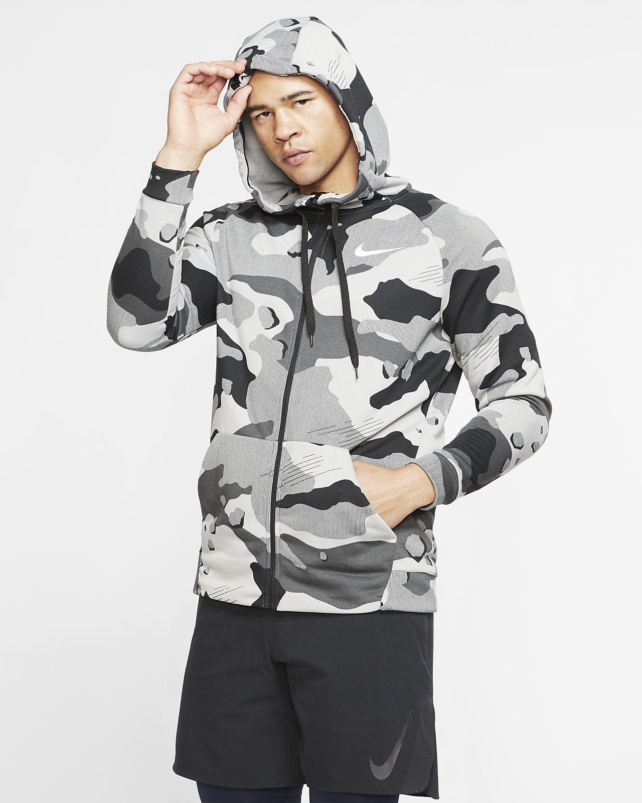 Nike Dri-FIT Men's Full-Zip Camo Hoodie