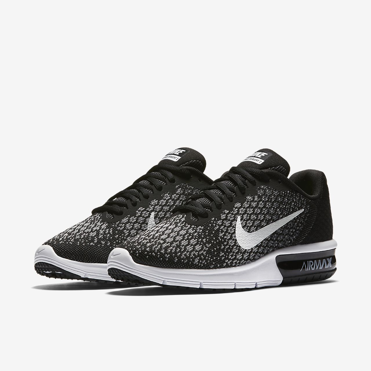 nike running air max sequent 2 black