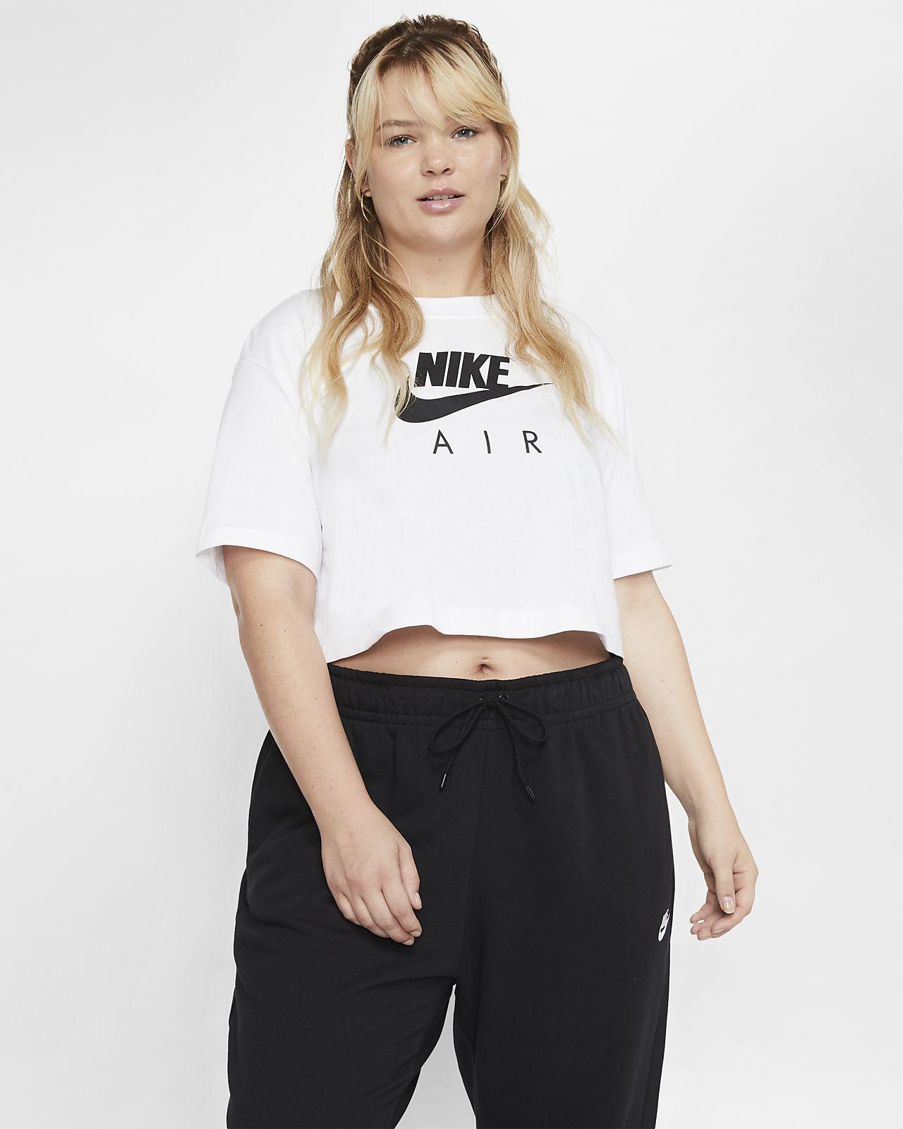Damska koszulka z krótkim rękawem Nike Air (duże rozmiary)