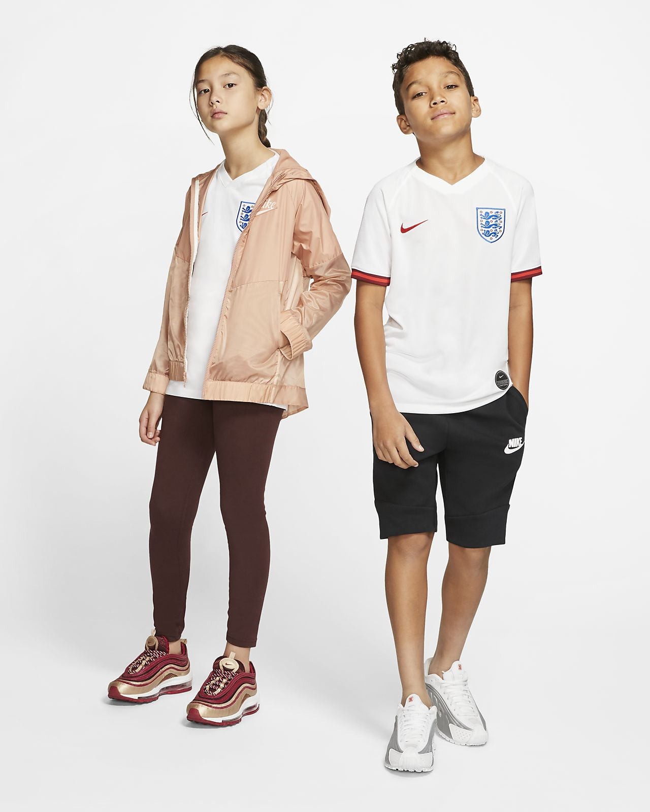 Maillot de football England 2019 Stadium Home pour Enfant plus âgé