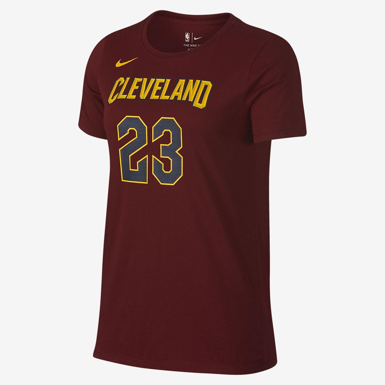 95f9900aa3b0 LeBron James Cleveland Cavaliers Nike Dry Womens NBA T-Shirt ...