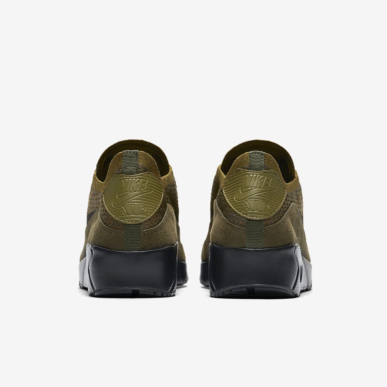 AIR MAX 90 ULTRA 2.0 FLYKNIT - Sneaker low - olive flak/black/cargo khaki O1S1ioSxHB