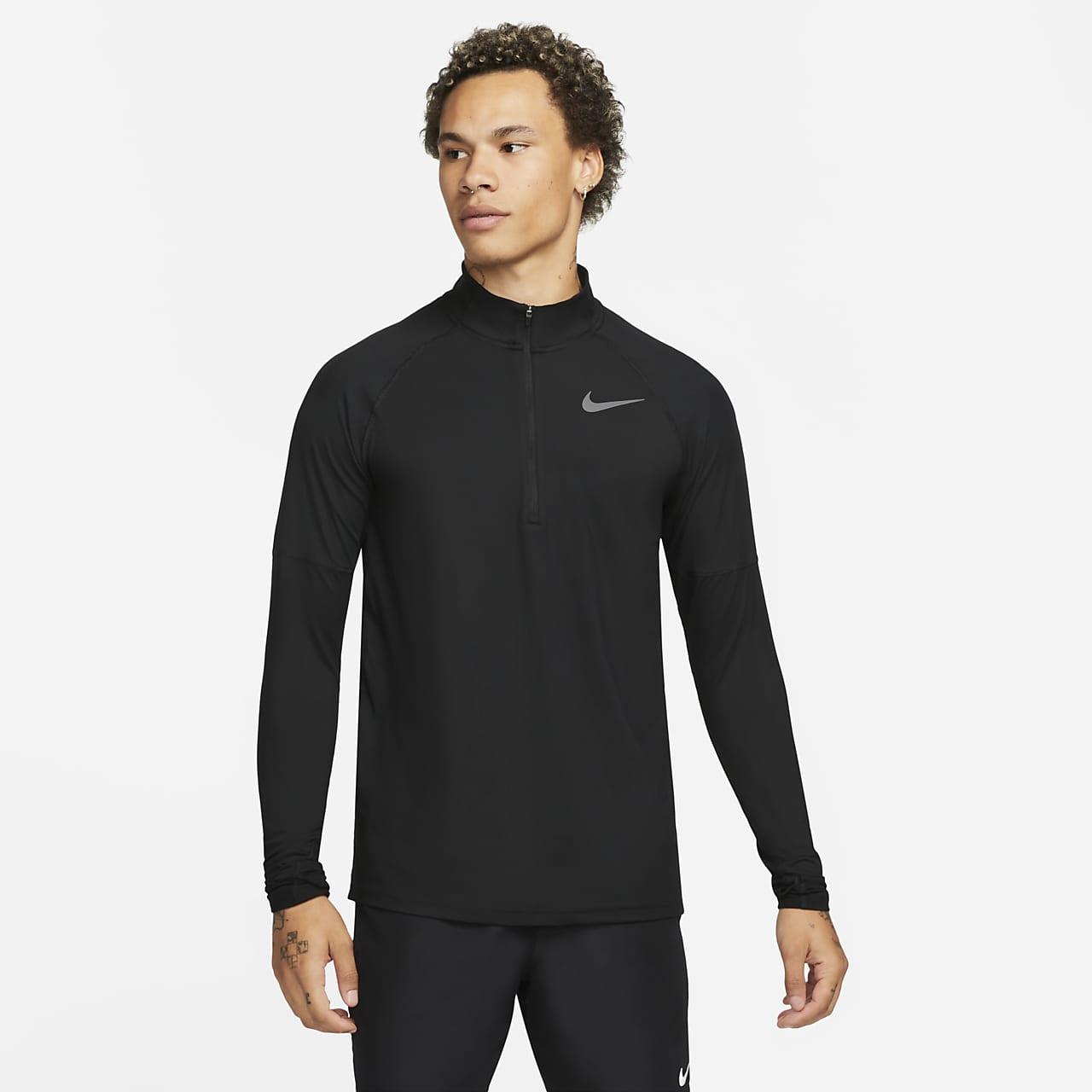 Мужская беговая футболка с молнией на половину длины Nike