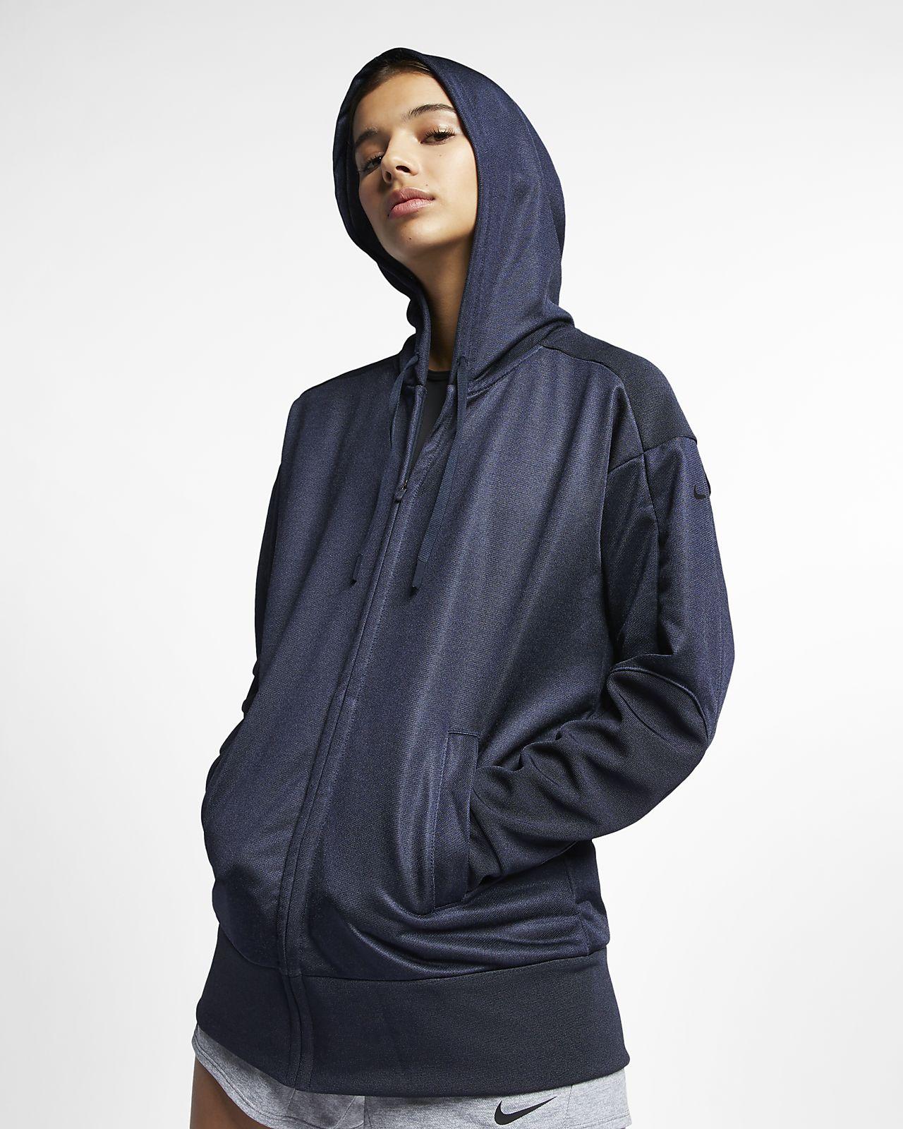 Sudadera con capucha de entrenamiento de cierre completo para mujer Nike Dri-FIT