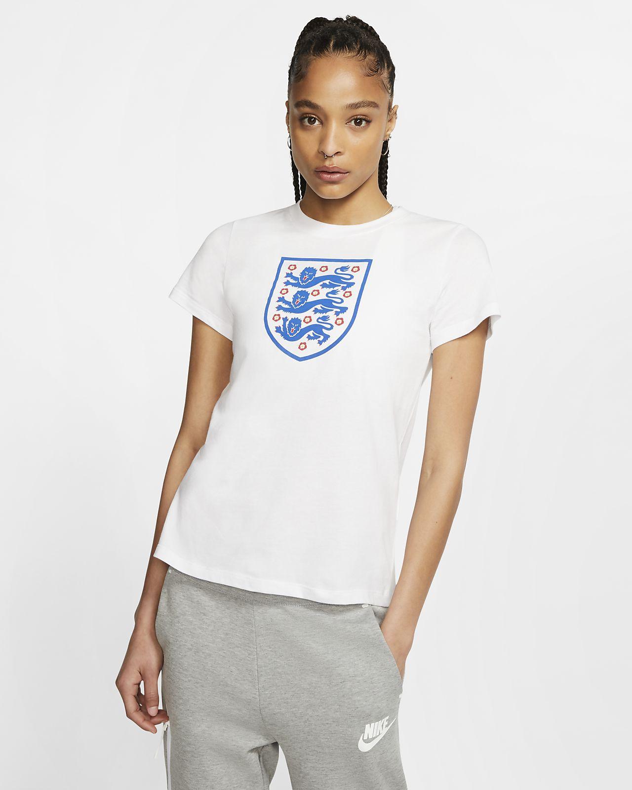 England-fodbold-T-shirt til kvinder