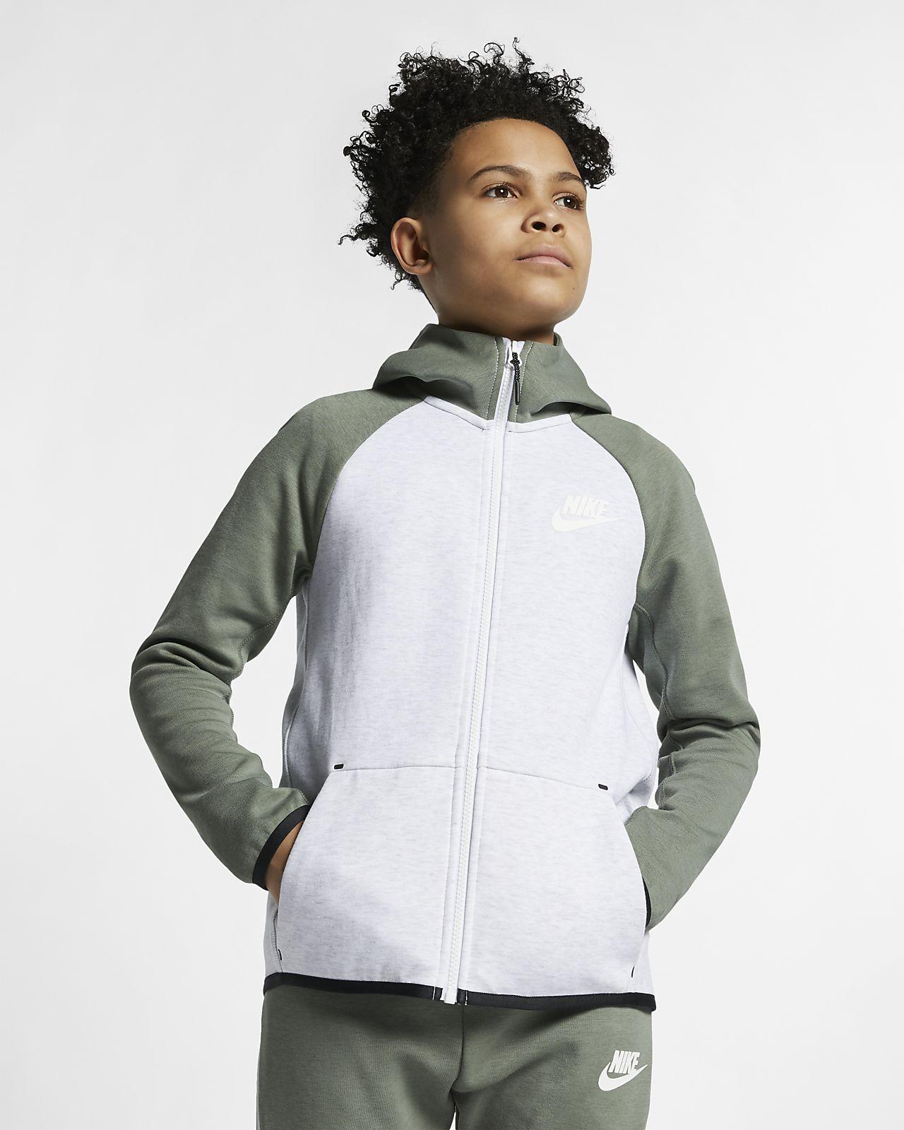Bunda Nike Sportswear Tech Fleece se zipem po celé délce pro větší děti