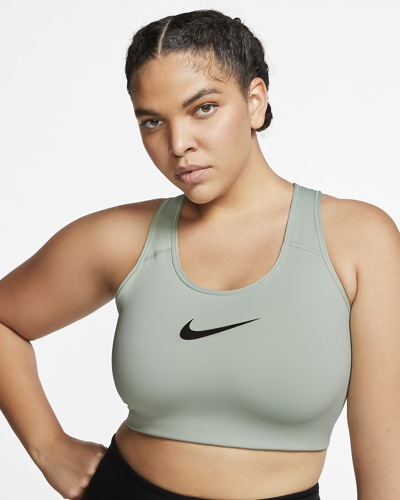 d3ec2f7efe Nike Women's Swoosh Medium-Support Sports Bra (Plus Size)