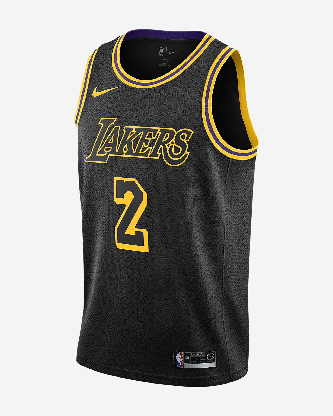 09949c00 Lonzo Ball City Edition Swingman Jersey (Los Angeles Lakers) Men's Nike NBA  Jersey