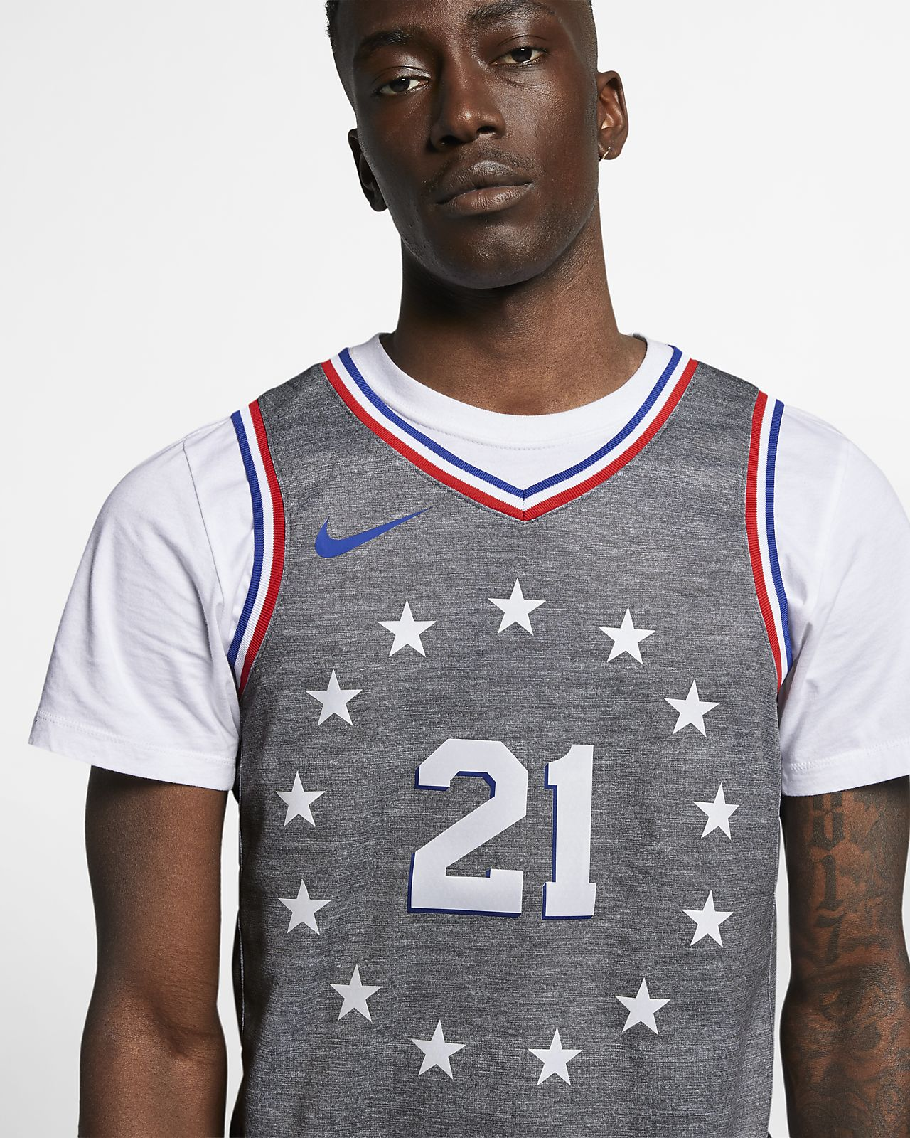 size 40 b27de 612c6 Joel Embiid City Edition Swingman (Philadelphia 76ers) Men's Nike NBA  Connected Jersey