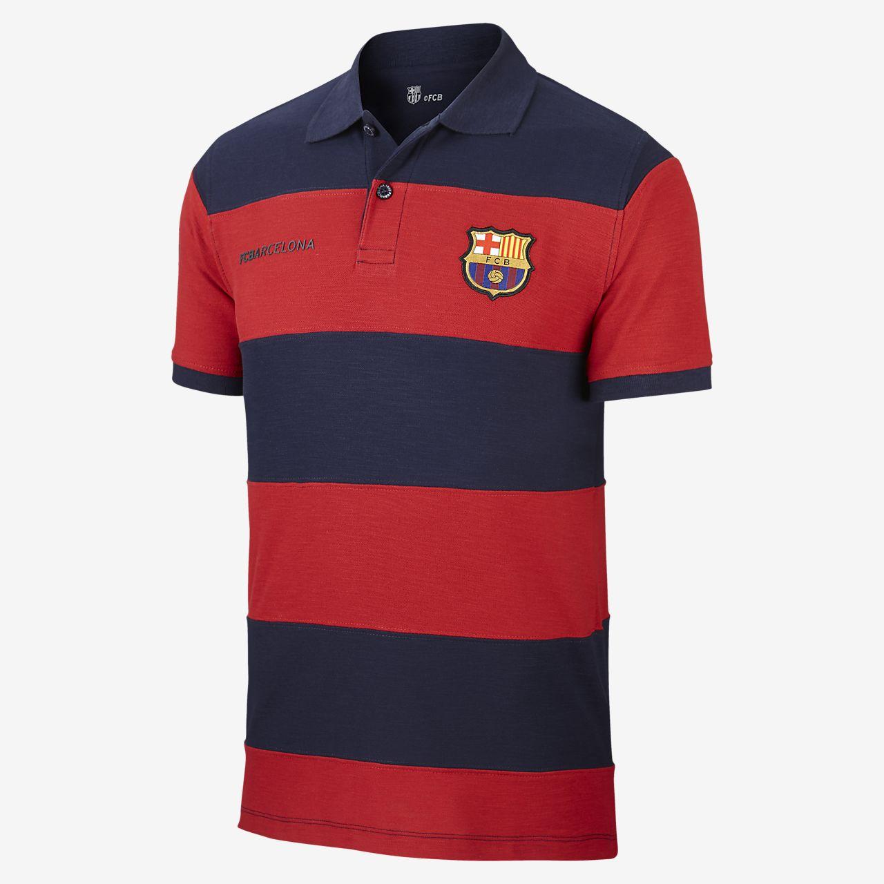 7e05ec6a36ab Ανδρική μπλούζα πόλο FC Barcelona Spirit. Nike.com GR