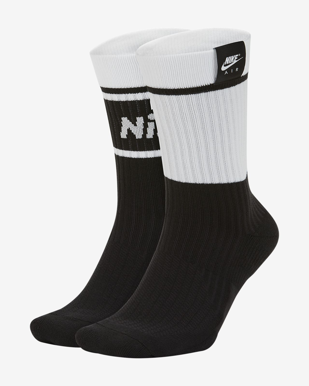 Nike Air SNKR Sox Crew Socks (2 Pairs)