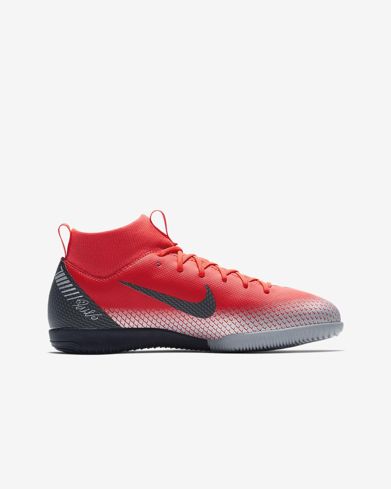 new style 74160 28938 cr7 jr. superflyx 6 academy ic fodboldstøvle til store børn (indendørsbane)