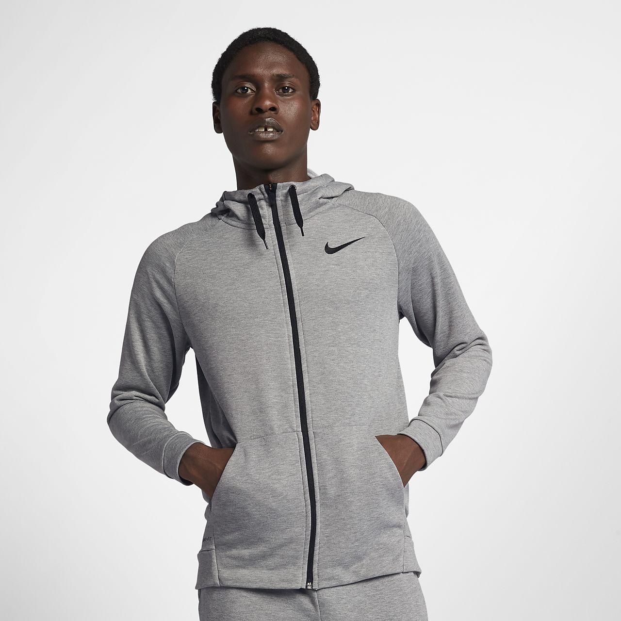 2d496a063e Pánská tréninková mikina s kapucí a zipem v plné délce Nike Dri-FIT ...