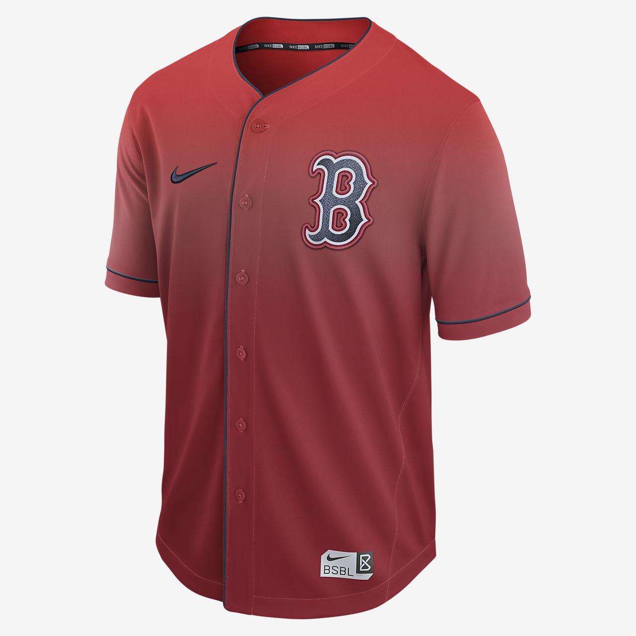 ... Nike Fade (MLB Red Sox) Men's Baseball Jersey