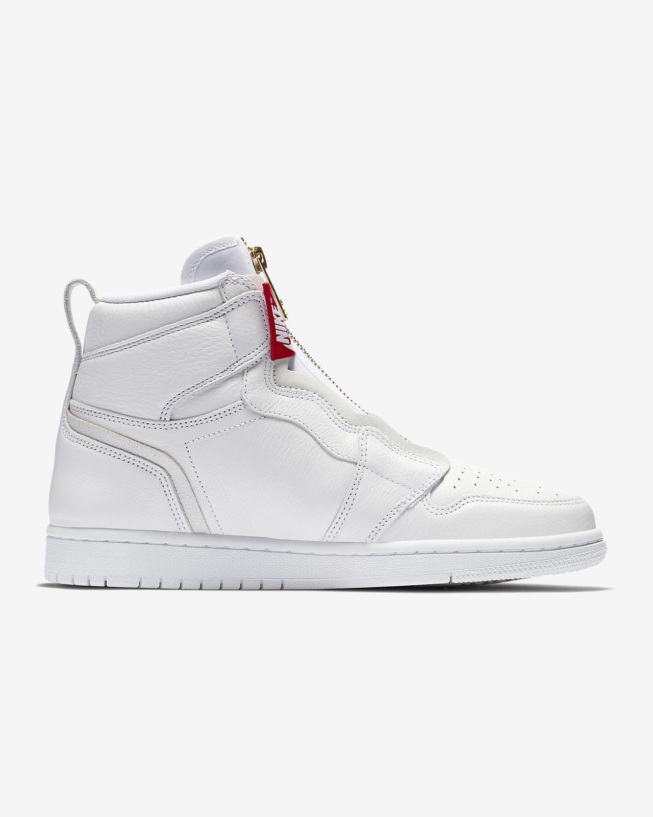 Scarpa Air Jordan 1 High Zip - Donna - Bianco nike grigio Zip Salida 100% Garantizado Venta Barata De Verdad 2RdIg