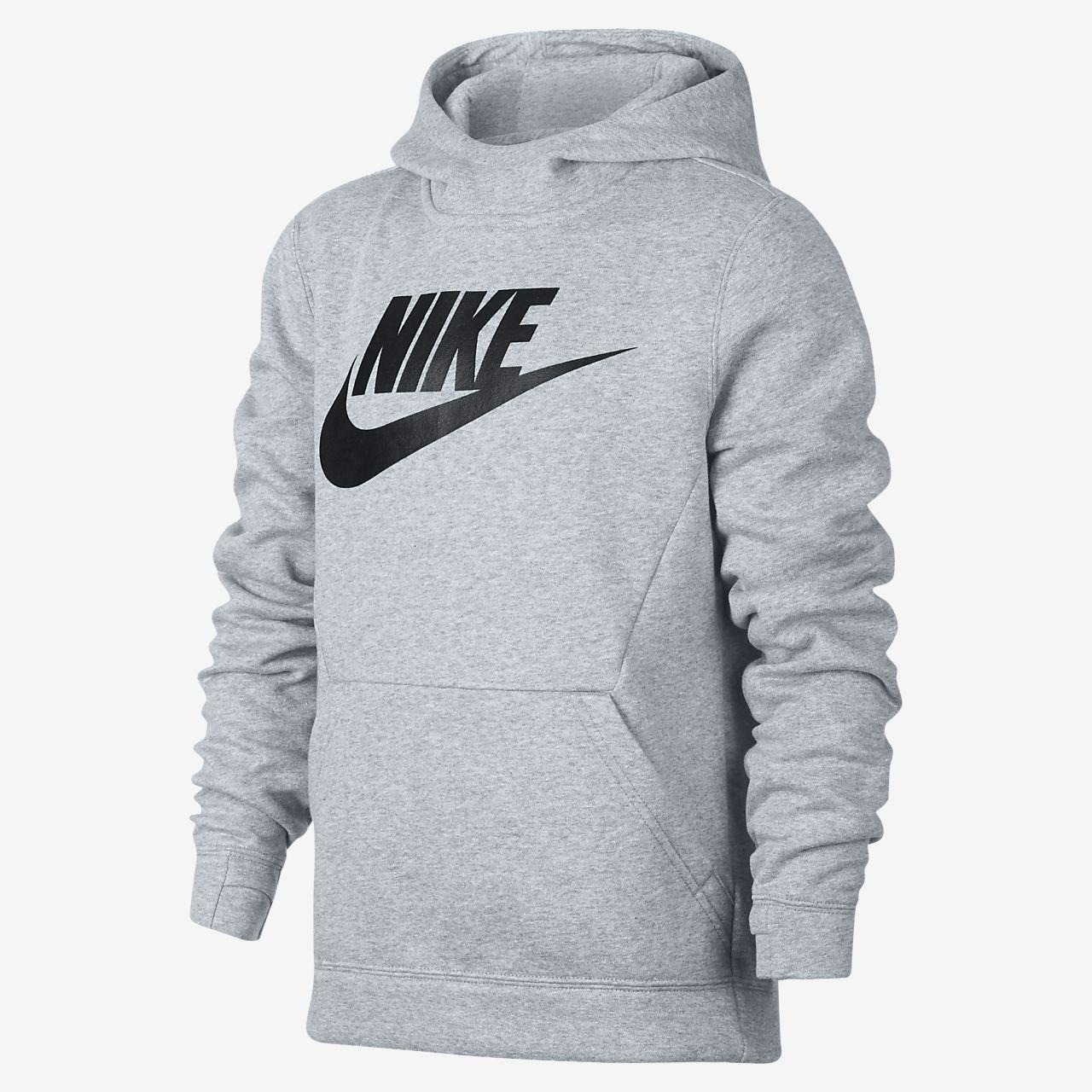 e67f675f32 Chlapecká flísová mikina Nike Sportswear s kapucí. Nike.com CZ