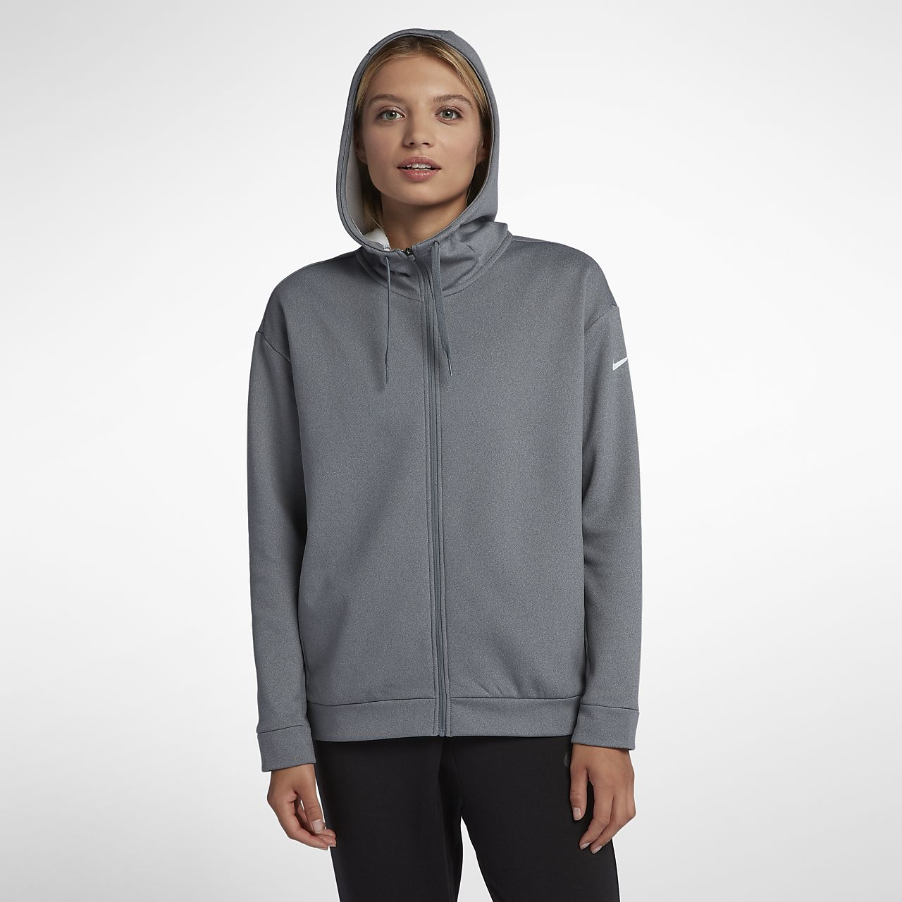 bceb9de491b1e Nike Dri-FIT Therma Women s Full-Zip Training Hoodie. Nike.com
